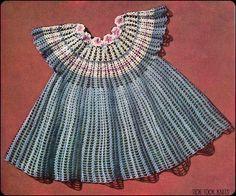 TRICO y CROCHET-madona-mía: Vestidos de crochet Vintage para niñas