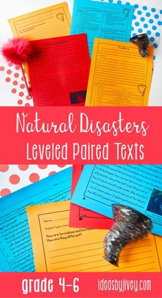 "Use these differentiated paired passages with your students to integrate high-interest, engaging informational passages about natural disasters which teach about hurricanes and tornadoes, earthquakes and tsunamis, and floods. There is also a Native American Legend included called ""The Flood and The Rainbow."" #pairedtexts #readingactivities #fourthgrade #fifthgrade #sixthgrade"