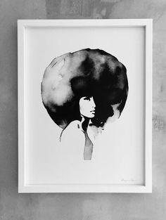 Se3 image of Magdalena Tyboni lady with big haircut print