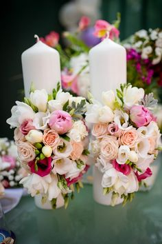 Wedding Decorations, Wedding Ideas, Weeding, Pillar Candles, Wedding Flowers, Bouquet, Bloom, Bridal, Future