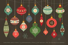Check out Christmas Balls Pack by Inkant Studio on Creative Market