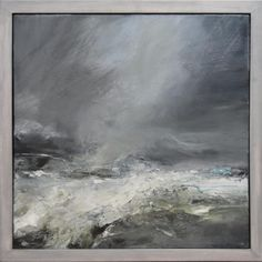Janette Kerr - saw one of her pieces in 2013 RA Summer Exhibition - lovely! Looks easy but I know it is not! Abstract Landscape Painting, Seascape Paintings, Landscape Art, Landscape Paintings, Abstract Art, Sea Art, Contemporary Landscape, Painting Inspiration, Illustration Art