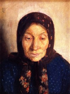 The Athenaeum - Old Fisherman's Wife (Anna Ancher)