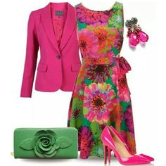 48 Ultra Modern Street Fashion Styles That Fuse In The Best Styles From All Over The World To Create The Best Hippie Look Bunte rosa Blumen-Straßen-Mode-Art Classy Outfits, Chic Outfits, Spring Outfits, Dress Outfits, Fashion Dresses, Woman Outfits, Fashion Clothes, Look Fashion, Spring Fashion