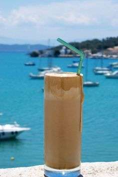 Greek Frappe in Porto Heli  We have authentic #Greek #cookies and #oliveoil available at TasteofCrete.com !