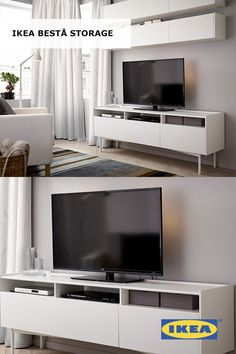 Living room storage made personal with the high quality IKEA BESTÅ storage solution that can be tailored to your needs, both in looks and in function. So it's the perfect partner for your TV, media gadgets and other living room must-haves.