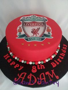 Liverpool Cake Lfc Tattoo, Liverpool Cake, Lfc Wallpaper, Happy Birthday, Birthday Cakes, Cake Tutorial, Football Cakes, Cake Decorating, Cupcakes