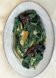 Italian Style Greens cooked in fragrant garlicky oil (a good way to cook chard) | Vegetables Recipes | Jamie Oliver Recipes