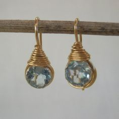 18K Yellow Gold Filled Women rainbow Topaz Zircon Triangle Boucles d/'oreilles Clou