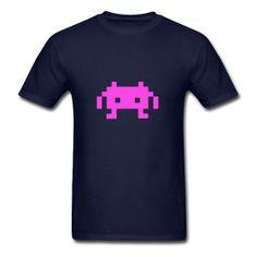 Pixel Alien T-Shirt #Tshirt #Alien #Invaders #SpaceInvaders #Arcade #geek #RetroGame #Videogame Classic-cut standard weight t-shirt for men, 100% pre-shrunk cotton, Brand: Gildan