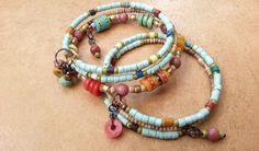 Etsy UK. Boho Stacking Hippie Beach Bracelet Wrap by Aprilands