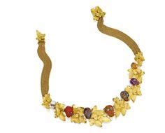 Sotheby's Important Jewels, New York, 22.09.2016 - results  GOLD, HARDSTONE AND COLORED DIAMOND 'DE LA MORT ET DE LA VIE' NECKLACE, by CODOGNATO Estimate 20,000 — 30,000 USD Lot Sold 50,000 USD