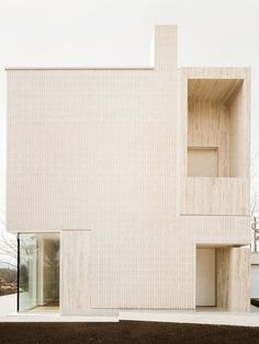 Внести архитектурные изменения и построить такой дом может наша команда. Звоните! Architectural Digest, Architectural Materials, Casas Containers, Brick Texture, Contemporary Building, Italian Home, Ground Floor Plan, Concrete Blocks, Architecture Design