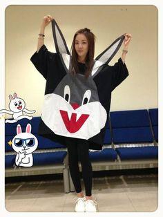 #2ne1 #dara #rabbit #kpop