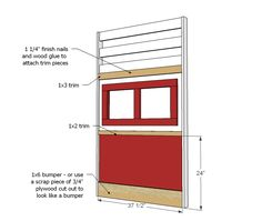 How to build a fire truck loft bed. Free step by step plans to build a fire engine loft bed. Ana White, Oaks Room, Fire Truck Bedroom, Woodworking Plans, Woodworking Projects, Kids Bed Design, Loft Bed Plans, Truck Room, To Build A Fire