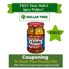 Dollar Tree Coupon Matchup: FREE Vlasic Bold & Spicy Pickles - http://www.couponsforyourfamily.com/dollar-tree-coupon-matchup-free-vlasic-bold-spicy-pickles-2/