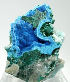 Shattuckite - $ 1200  Okenwasi Mine, Kaokoveld Plateau, Kunene Region, Namibia  small cabinet, 8.4 x 6.6 x 4.1 cm