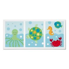 Could make wall art with cricut- fish, turtle, octopus