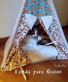 Tenda para Gato - por encomenda | Tecelinha | Elo7