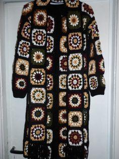 Crochet granny square hippie boho gipsy multicoöor by krittenart