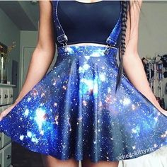 "103.9k Likes, 785 Comments - Fashion | 365 days a year  (@fashions.hub) on Instagram: ""Galaxy Skirt  Yes or No? @hellokittyxtc Follow us ✯ @fashions.hub ✯ ----------✯ @fashions.hub ✯ -…"""