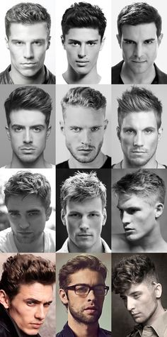 mens short hairstyles 2015 long face high hairline - Google Search