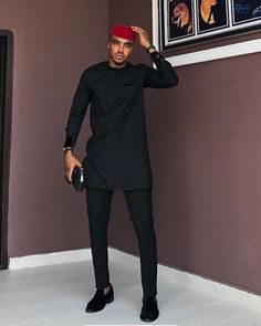 Outstanding Traditional Outfits for Men - Vincisjournal African Wear Styles For Men, African Shirts For Men, African Dresses Men, African Attire For Men, African Clothing For Men, African Men Style, Mens Clothing Styles, African Traditional Wear, Traditional Fashion