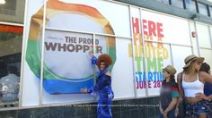 Burger King Proud Whopper #PRIDE I love this and want a rainbow wrapper right now to hang on my wall! This is why BK is my favorite fast food...and they have veggie burgers!