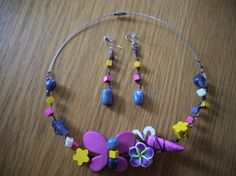 Necklace and earrings Candies by CreationsBella on Etsy, $27.00