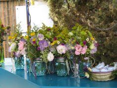 Wildflowers in Mason Jar - Centerpieces