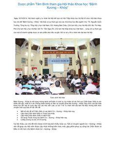 Duoc pham tam binh tham gia hoi thao khoa hoc benh xuong khop  by Dược Phẩm Tâm Bình   http://tambinh.vn/duoc-pham-tam-binh-tham-gia-hoi-thao-khoa-hoc----benh-xuong-----khop---_921.html