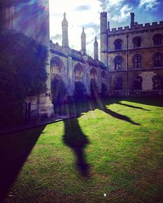 Autumnal shadows in the beautiful sunlight at Kings College, Cambridge