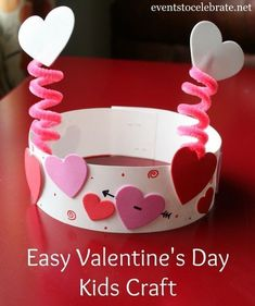 Valentine's Day Party Activities – events to CELEBRATE! Valentine's Day Party Activities – events to CELEBRATE!,Kids Valentine's Day Valentines Day Kids Craft – eventstocelebrate… Related Best DIY Valentine's Day Decor Ideas - Valentine. Valentine's Day Crafts For Kids, Valentine Crafts For Kids, Daycare Crafts, Valentines Day Activities, Valentines Day Party, Craft Activities, Preschool Crafts, Valentine Hats, Valentines Crafts For Kindergarten
