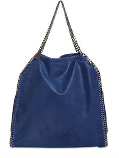 STELLA MCCARTNEY |  LARGE BAG WITH SILVER COLORED METAL HARDWARE