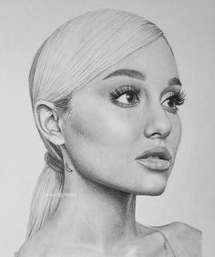 white background, girl face drawing, ariana grande black and white drawing, long low ponytail tattoo girl drawing ▷ 1001 + ideas how to draw a girl - tutorials and pictures Lips Sketch, Face Sketch, Pencil Art Drawings, Art Drawings Sketches, Face Drawings, Drawings Of Girls Faces, Faces To Draw, Sketches Of Girls Faces, Sketches Of People