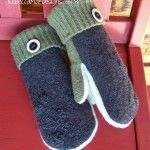 wool mittens from old sweaters with fleece lining sewing pattern tutorial.