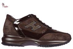Hogan chaussures baskets sneakers femme en daim interactive h flock altraversione marron EU 38 HXW00N02582IU39998 - Chaussures hogan (*Partner-Link)