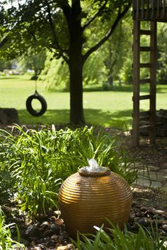 Add a Garden Fountain to Your Yard - Live Creatively Inspired