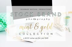 Check out Limited Edition Mint&Gold Collection by RW | Productions on Creative Market