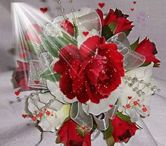 See the PicMix Red Roses. Flowers Gif, Beautiful Rose Flowers, Pretty Roses, Beautiful Gif, Happy Mothers Day, Happy Valentines Day, Dank Gifs, Beau Gif, Rose Images