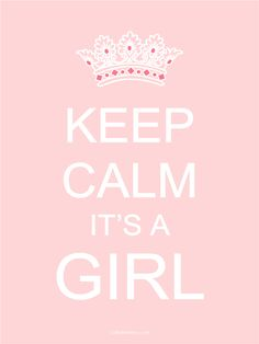 Free Printable Baby Girl Sign, cute for if/ when having a girl