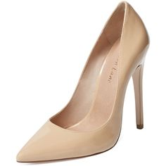 Maiden Lane Huxley Pointed-Toe Pump (1 415 ZAR) ❤ liked on Polyvore featuring shoes, pumps, pointed toe high heels shoes, pointy toe high heel pumps, pointed-toe pumps, platform shoes and pointed toe shoes