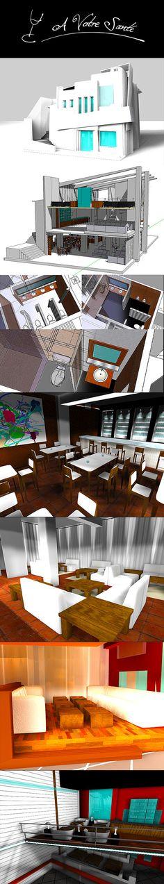 2008 / A Votre Sante Club on Behance #3D #design #sketchup #cinema4D #aftereffects