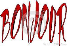 Bonjour text sign illustration