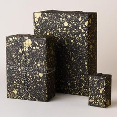 This is a screen-printed pattern, gold ink is used to make the pattern shimmer and shine on deep black paper. Christmas Time, Christmas Gifts, Homemade Black, Shimmer N Shine, Gold Ink, Black Paper, Beautiful Gifts, Cool Diy, Homemade Gifts