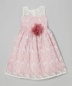 Look at this #zulilyfind! Ivory & Rose Lace Babydoll Dress - Toddler & Girls by Kid's Dream #zulilyfinds