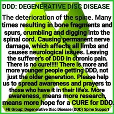 Degenerative bone / disk disease