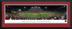 Arkansas State Red Wolves Panoramic - Centennial Bank Stadium Picture - Deluxe Frame $199.95
