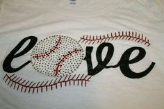 Love Baseball or Softball Bling and Glitter Shirt, Baseball Shirt, Baseball… Baseball Mom Shirts, Baseball Bases, Baseball Gear, Softball Mom, Baseball Season, Sports Shirts, Baseball Stuff, Softball Cheers, Softball Crafts