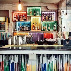 Our bar in Vama Veche:) Design Anda Maxim Repost - Rainbow party. Visit Romania, Beach Bars, Black Sea, Hostel, Summertime, Chill, Rainbow, Instagram Posts, Party